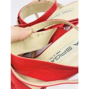 e082cd9a6d8 Via Spiga Shoes - Via Spiga Italy Red Heels Ankle Strap
